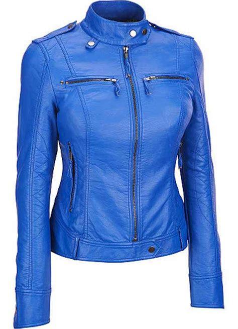 light blue leather jacket womens women blue leather jacket womens biker leather jacket