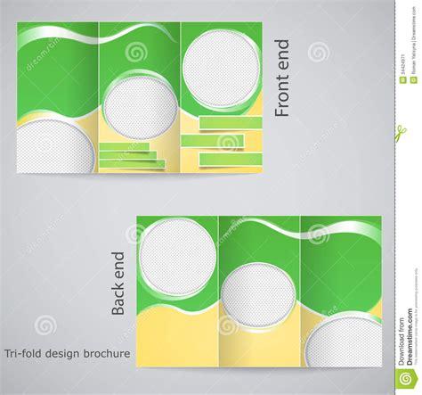 Brochure Template Design by Tri Fold Brochure Design Stock Vector Illustration Of