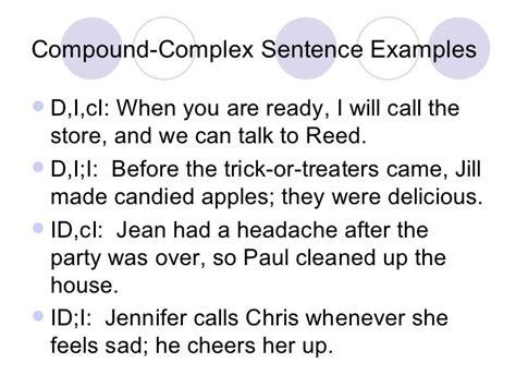 sentence structure examples complex sentences complex