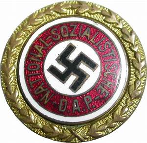 The Nazi Golden Party Badge. Awarded to the first 100,000 ...
