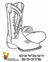 Cowboy Coloring Boot Pages Boots Western Drawing Printable Cowgirl Sketch Hats Saddle Slide Pencil Yescoloring Country Horses Boys Tattoo Hat sketch template