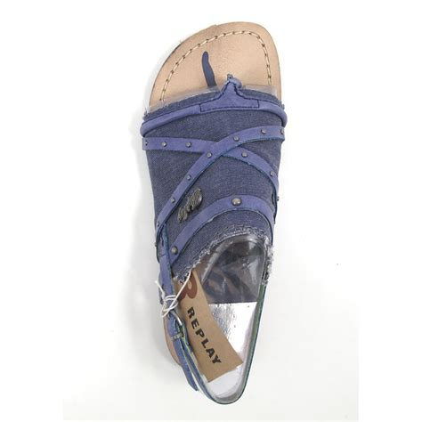 REPLAY RIFS NAVY- Sandale Blau | 50% OFF im Outlet-Shop
