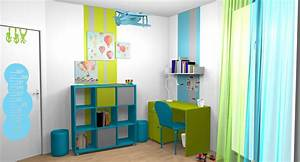 Décoration Chambre Ado Garçon : chambre turquoise et vert ~ Melissatoandfro.com Idées de Décoration