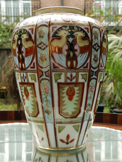 antique liberty co a wonderful nippon deco painted vase 2 c 1920 for sale