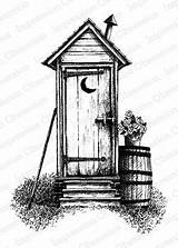 Outhouse Drawing Pencil Drawings Sketch Sketches Cabin Burning Wood Stencils Coloring Country Barn Victorian Patterns Landscape Log Template Line Woods sketch template