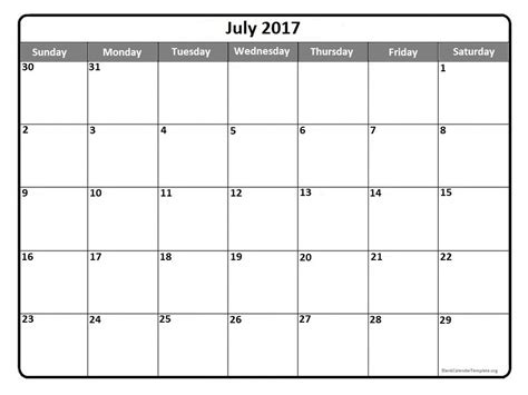 blank schedule blank july 2017 calendar weekly calendar template
