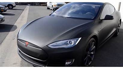 Tesla Matte Wrapped 2021 Dark Wrap Moon