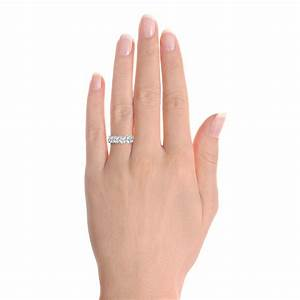 custom diamond wedding ring 102093 With wedding ring hand