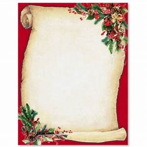 Christmas Scroll Letterhead Border Papers PaperDirect