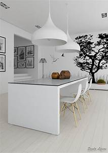 3 black and white kitchen interior design ideas for Kitchen colors with white cabinets with buddha 3 piece wall art
