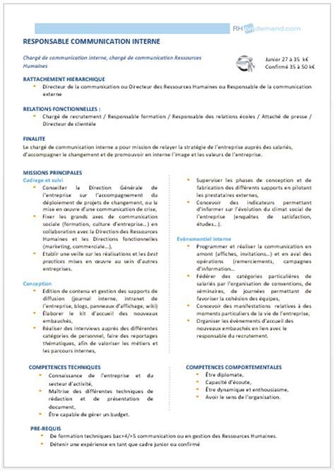 modèle fiche de poste fonction publique territoriale modele fiche de poste responsable ressources humaines