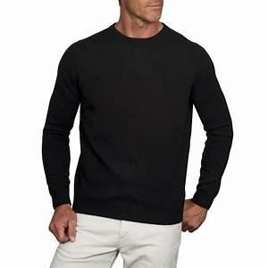 Gros Pull Laine Homme : pull col rond pour homme noir en laine cachemire noir ~ Louise-bijoux.com Idées de Décoration