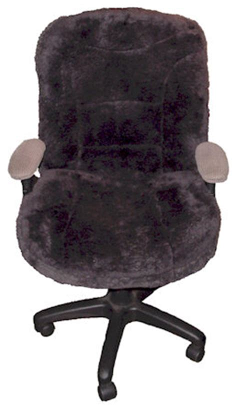 large sheepskin office chair covers