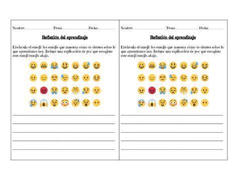 Reflexión Con Emojis/ Lesson Plan Emoji Reflection In