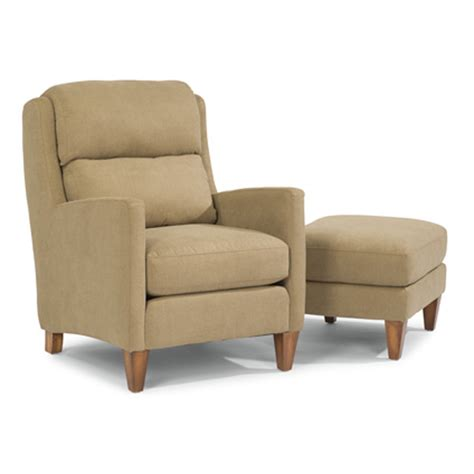flexsteel 5667 10 08 reed fabric chair and ottoman