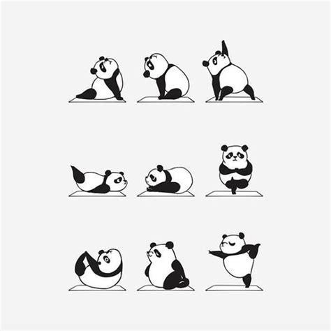 pin  nez agnez valencia  yoga yoga cartoon panda