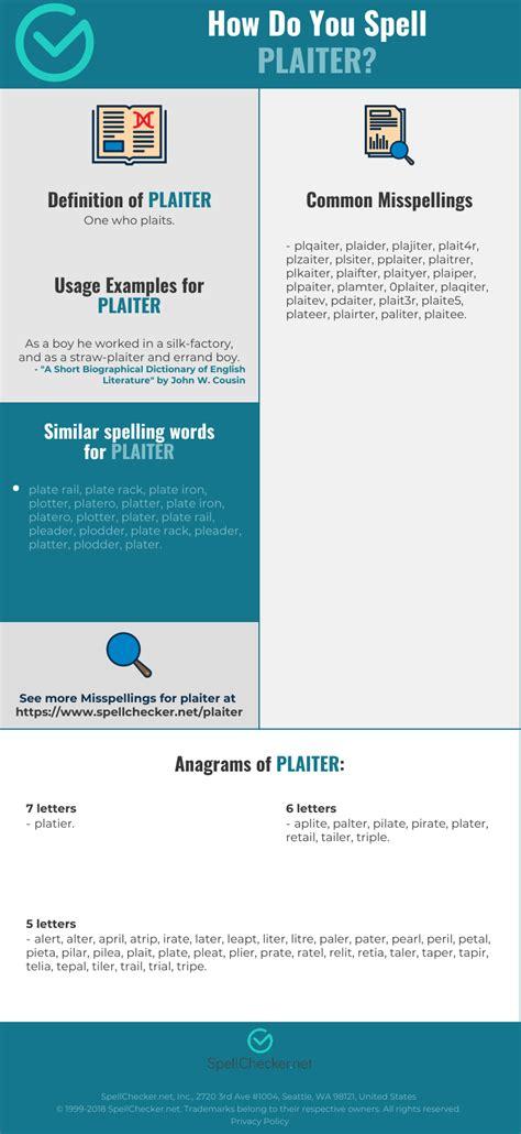 correct spelling  plaiter infographic spellcheckernet