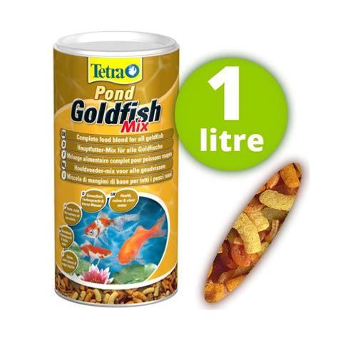 nourriture pour poisson de bassin de jardin tetra goldfish mix 1 litre