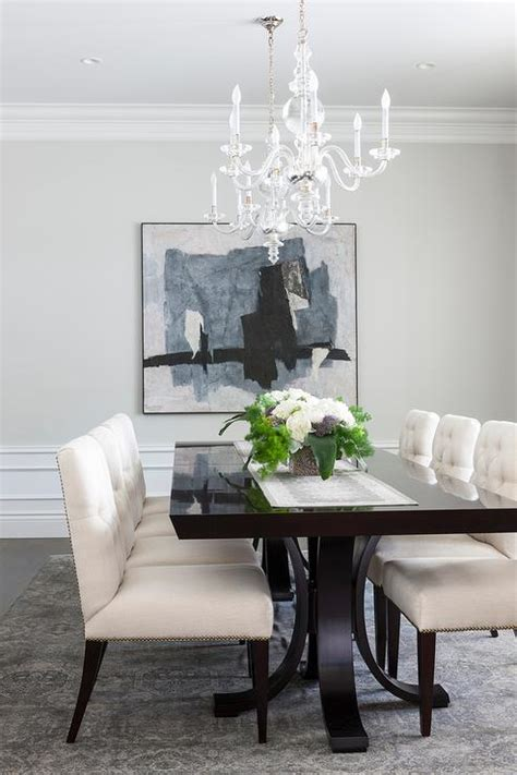 blue dining room table ivory and blue dining room with nailhead chairs