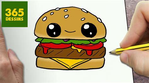 cuisine 3d mac comment dessiner hamburger kawaii é par é