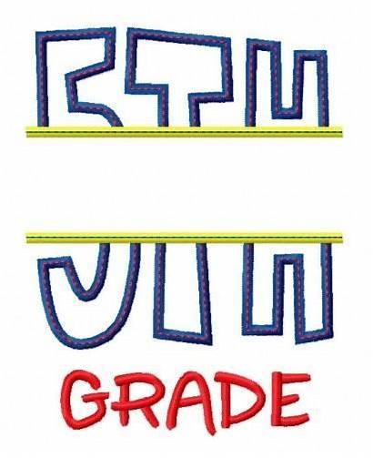 Grade Split 5th Applique Fifth