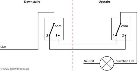 2 way lighting circuit diagram light wiring