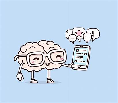 Brain Play Vector Glasses Smile Illustration Cartoon