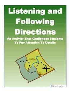 listening   directions activity  lesson