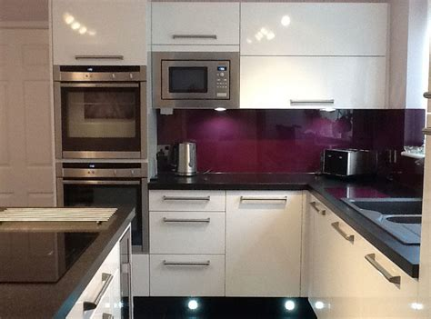 aubergine kitchen tiles aubergine acrylic kitchen splashback cut to size 1386