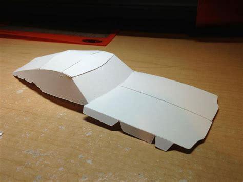 shelby mustang gt kr paper model work  progress