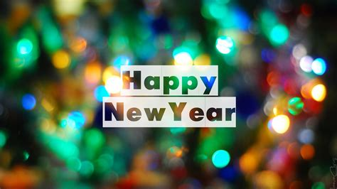 Full Hd Wallpaper Happy New Year Blur Background, Desktop