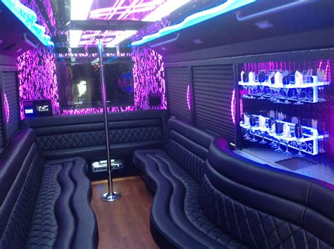party bus party bus transportation charlotte silverfox limos