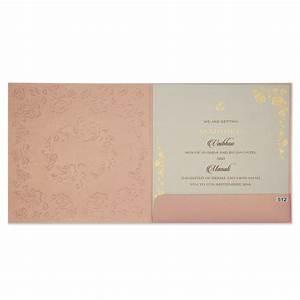 modern wedding invitation in rose gold colour with rose With rose gold wedding invitations canada