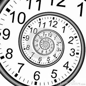 Designer Uhr Wand : unendlichkeits zeit spiralen uhr wand stock abbildung ~ Lateststills.com Haus und Dekorationen