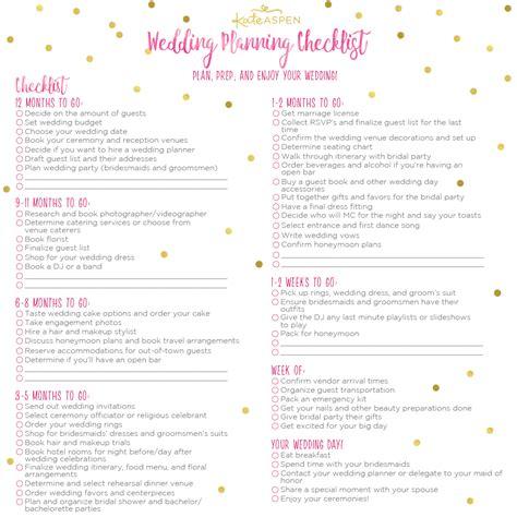Bridal Shower Preparation by A 12 Month Wedding Planning Checklist Kate Aspen