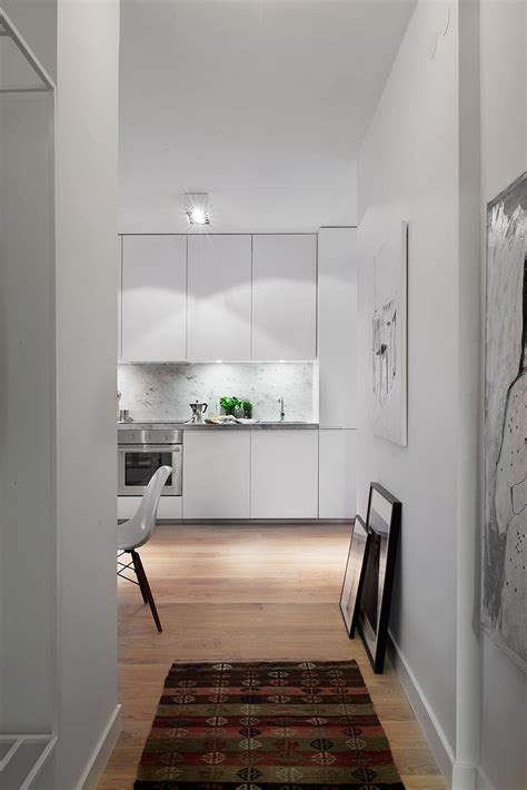 stylish  square foot small apartment  modern