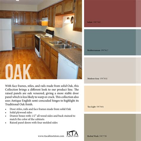 kitchen colors with oak cabinets color palette to go with our oak kitchen cabinet line