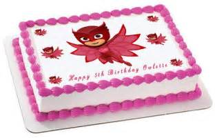 name cake toppers pj masks 4 owlette edible cake topper cupcake toppers
