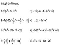 multiplying polynomials worksheets