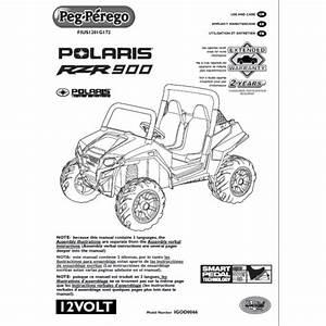 Peg Perego Polaris Ranger Rzr 900 User Manual Fius1201g172