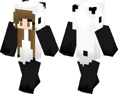 panda girl skin minecraft skin minecraft hub