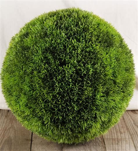 large faux grass balls