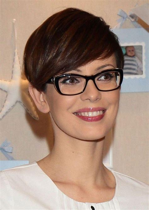 collection  short haircuts  glasses wearer