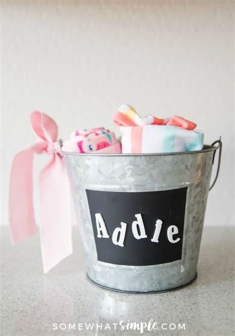Baby Shower Gifts - handmade baby shower gift for somewhat simple