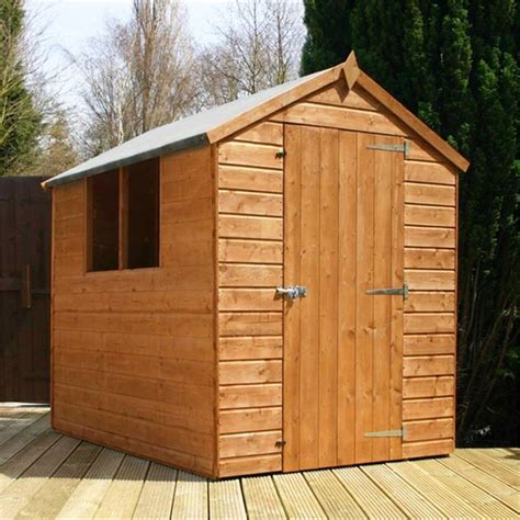 Tongue And Groove Boards For Sheds by 7 X 5 Tongue And Groove Apex Shed With Single Door 2