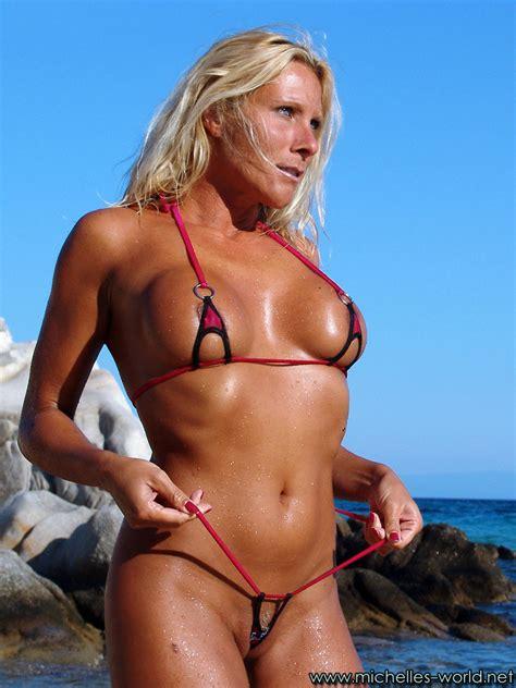 Hot Blonde With Micro Bikini At The Beach Pichunter