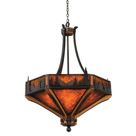 inverted pendant light rustic chandeliers aspen treescape inverted pendant light
