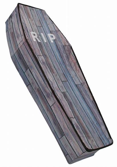 Coffin Wood Collapsible Grain Foot Halloween Decorations