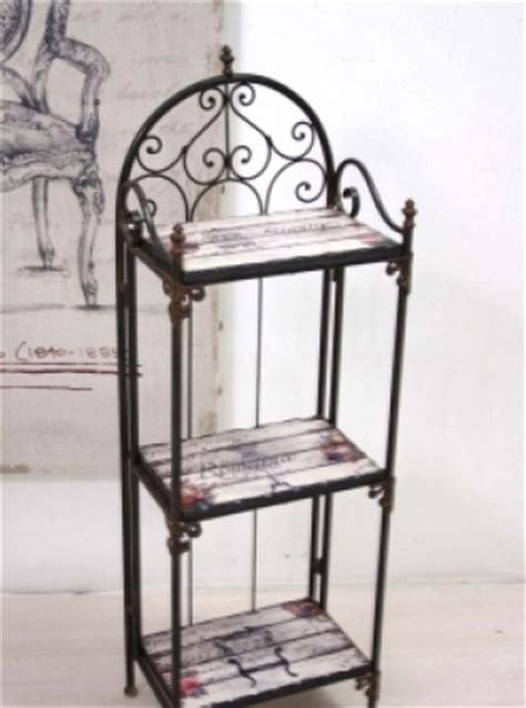 etagere ferro scaffale ferro vintage chic basso etnico outlet mobili