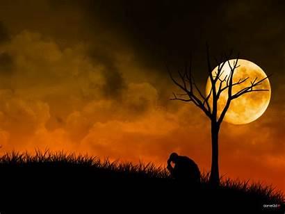 Sadness Sad Background Wallpapers Silhouette Alone Human